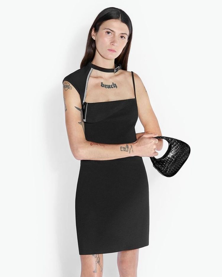 Zippered Black Dress