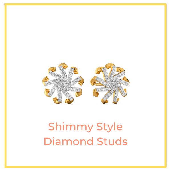 Shimmy Style Diamond Studs