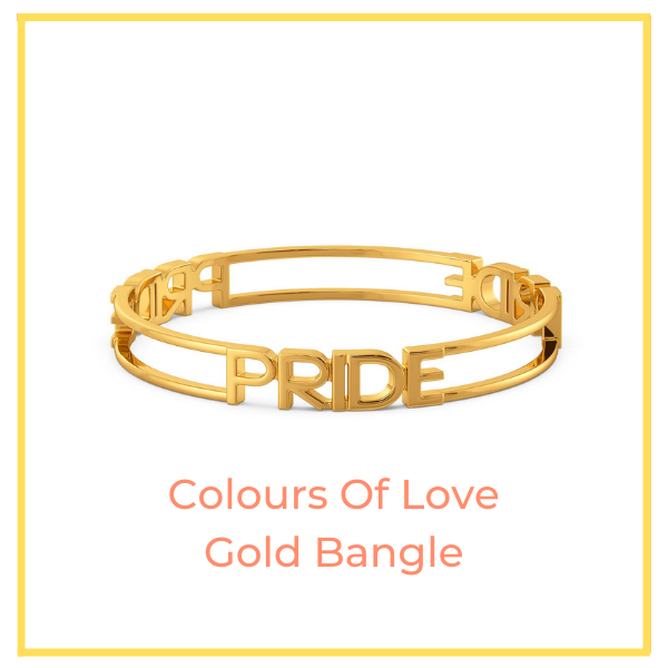 Colours Of Love Gold Round Bangle.
