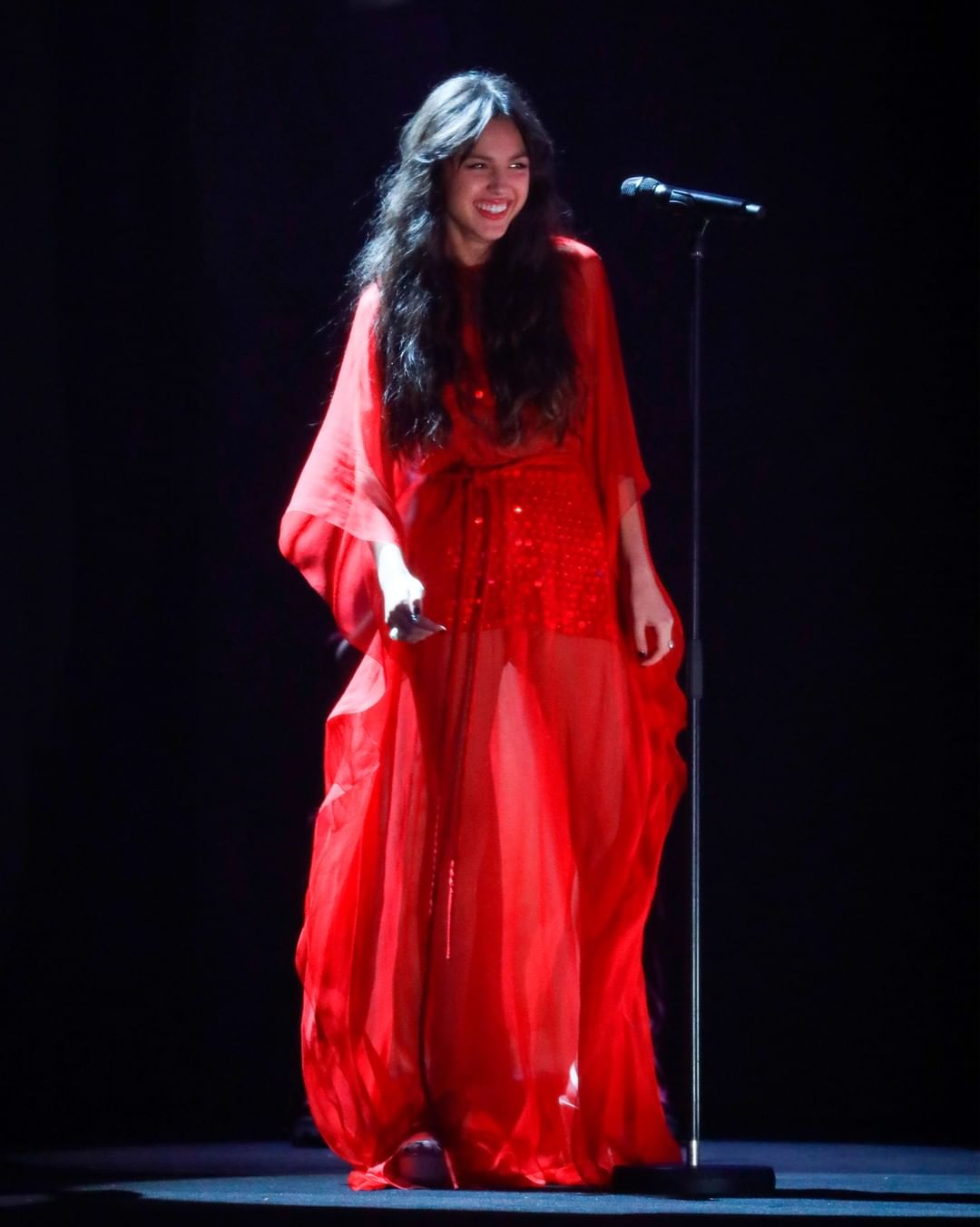 Red on the stage