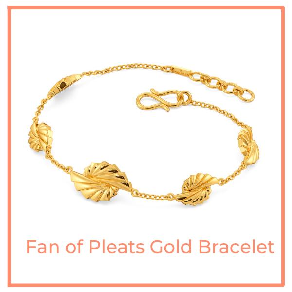 The Fan of Pleats Gold Bracelet