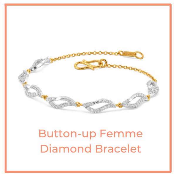 The Button-up Femme Diamond Bracelet