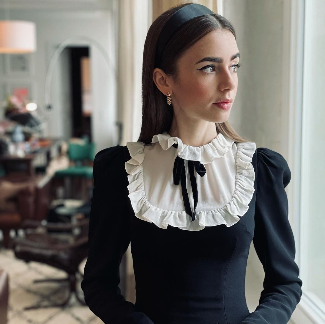 Frills Lily Collins